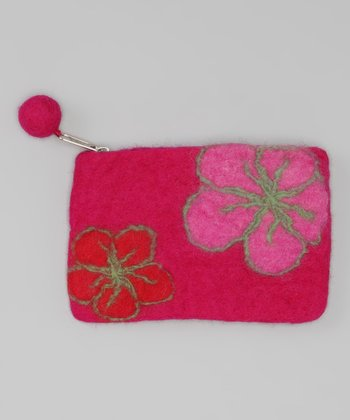 Windhorse Pink Felt Purse
