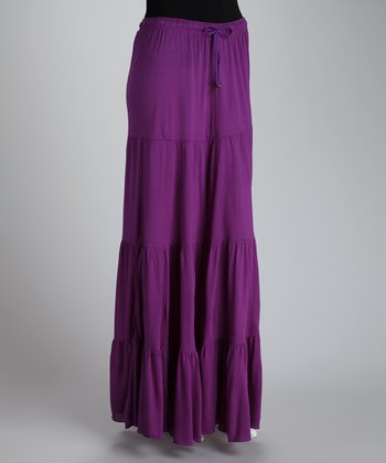 Purple Peasant Skirt - Women