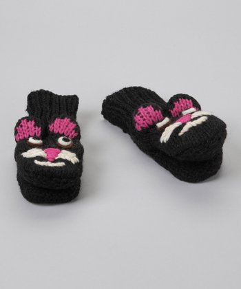 Black Kitty Mittens