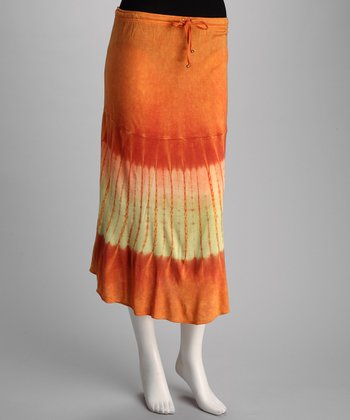 Orange Tie-Dye Skirt