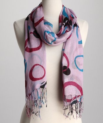Purple Circle Scarf