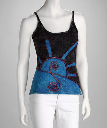 Windhorse Black & Blue Camisole