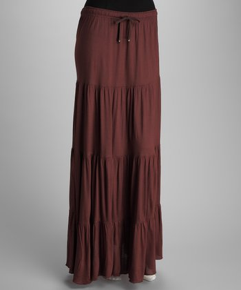 Brown Peasant Skirt - Women
