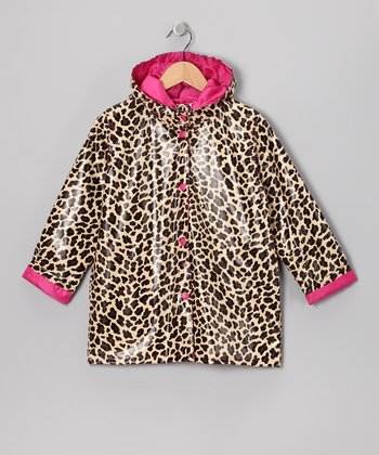 Brown Leopard Raincoat - Infant, Toddler & Girls