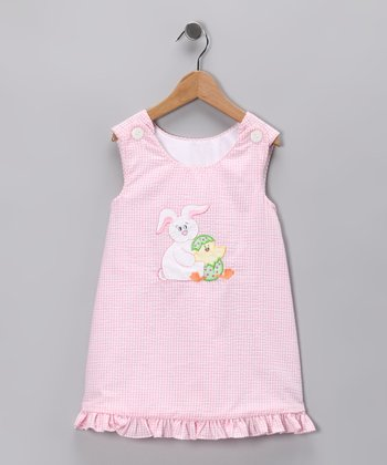 Pink Seersucker Easter Bunny Jumper - Toddler & Girls