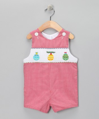 Red Gingham Ornament John Johns - Infant & Toddler