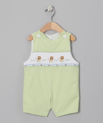 Lime Lion Gingham John Johns - Infant & Toddler