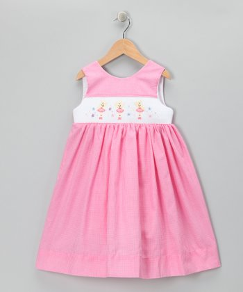 Pink Gingham Bunny Dress - Infant, Toddler & Girls