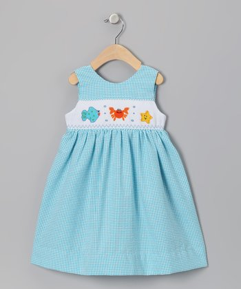 Blue Sea Friends Seersucker Dress - Infant, Toddler & Girls
