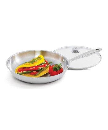 Stainless Steel 12'' Covered Skillet