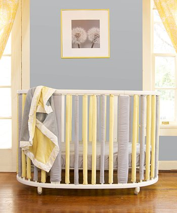 Grey & Yellow Stokke-Style Wonder Bumper Set