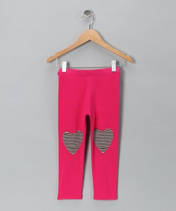 Fuchsia Heart Leggings - Toddler & Girls