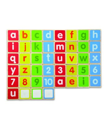 Lowercase Alphabet Magnet Blocks