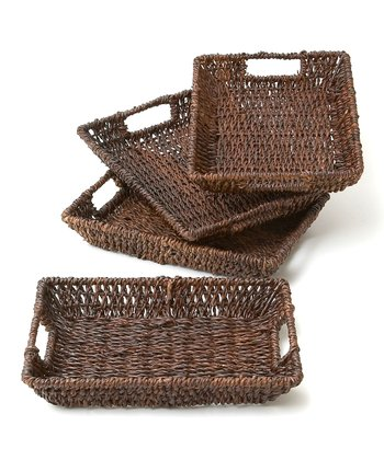 Abaca Rectangular Tray - Set of Four