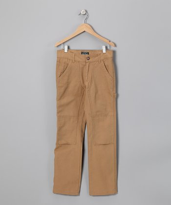 Tan Canvas Pants - Boys