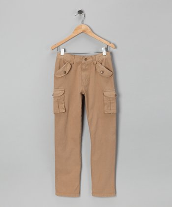 Tan Twill Cargo Pants - Toddler & Boys