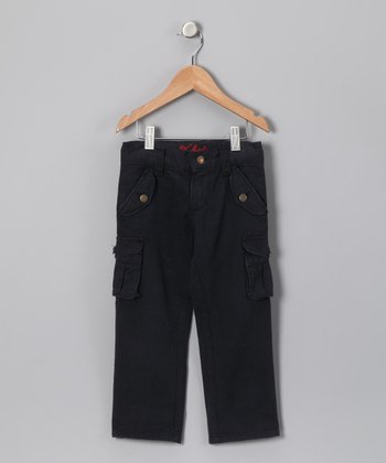 Navy Twill Cargo Pants - Infant & Toddler