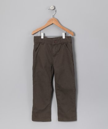 Olive Twill Pants - Infant, Toddler & Boys