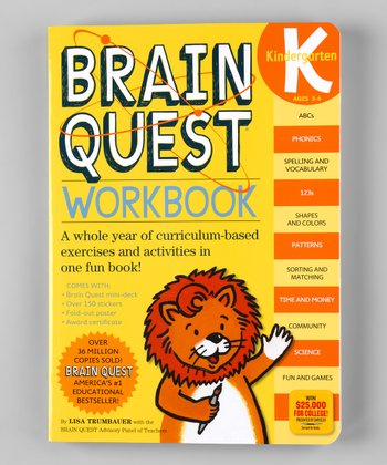 Brain Quest Workbook Kindergarten Paperback