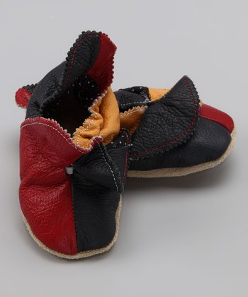 Wuggie Bear Blue & Yellow Jester Booties