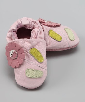 Wuggie Bear Pink Flower Booties