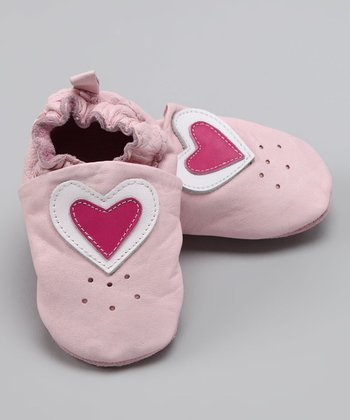 Wuggie Bear Pink Heart Booties