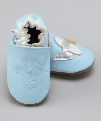 Wuggie Bear Light Blue Plane Booties