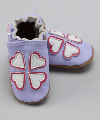 Wuggie Bear Lavender Heart Booties