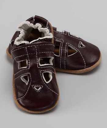Wuggie Bear Brown Cutout Booties