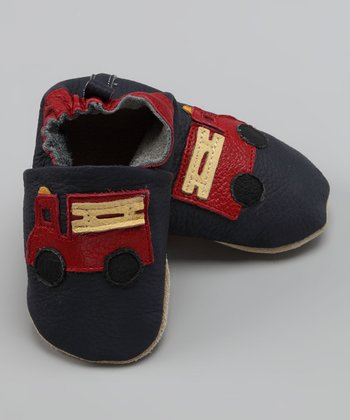 Wuggie Bear Blue & Red Fire Engine Booties
