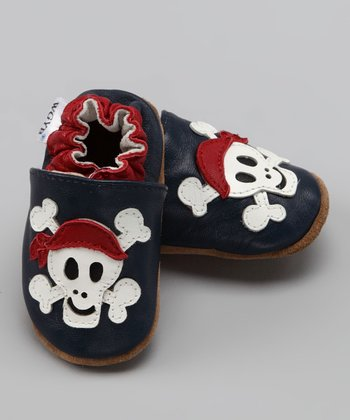 Wuggie Bear Blue Skull Booties