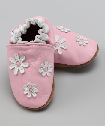 Wuggie Bear Pink Little Flowers Booties