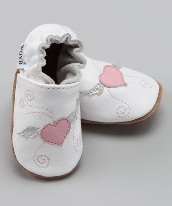 Wuggie Bear White Winged Heart Booties