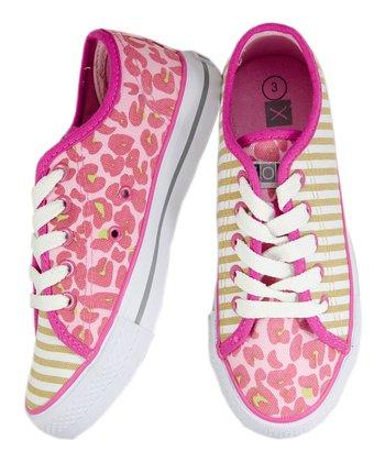 XOLO Shoes Pink & Tan Tabby Sneaker