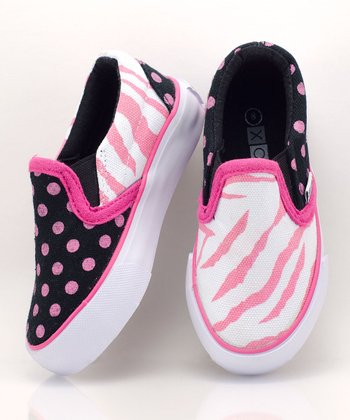 Pink & Black Zany Slip-On Sneaker - Women