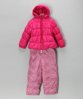 Pink Puffer Coat & Snow Pants - Infant & Toddler