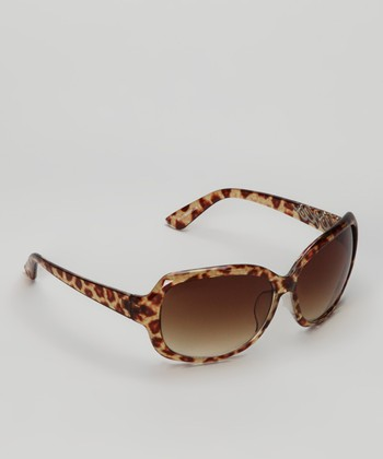 Brown Leopard Confetti Sunglasses