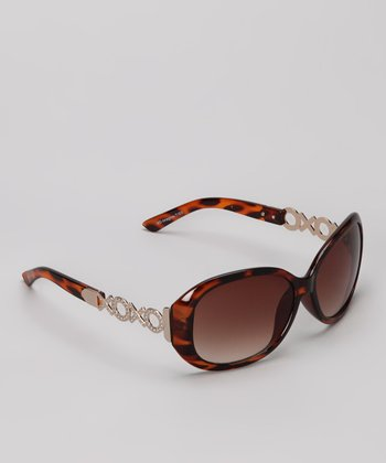 Tan & Silver Sunglasses