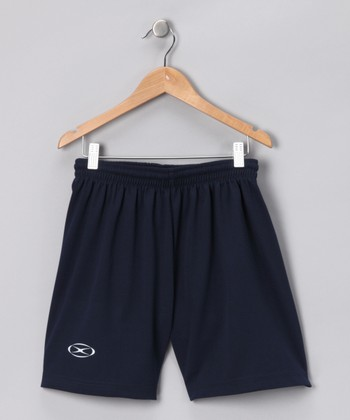 Navy League Shorts - Kids