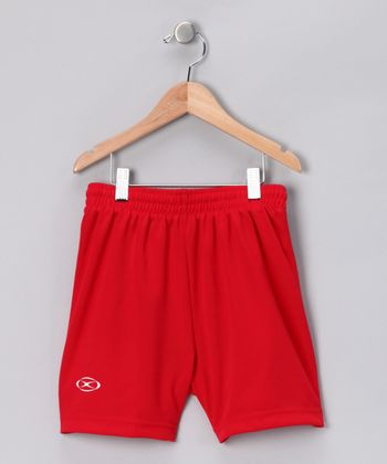 Red League Shorts - Kids
