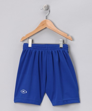Royal Blue League Shorts - Kids