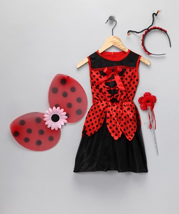 Red & Black Ladybug Dress-Up Set - Kids