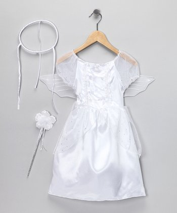 White Angel Dress-Up Set - Kids