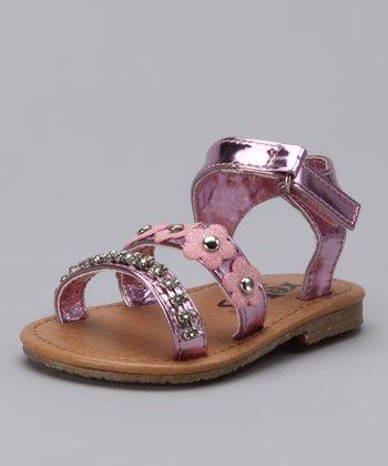 Xeyes Pink Flower Rhinestone Sandal