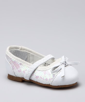 Xeyes White Sequin Flat