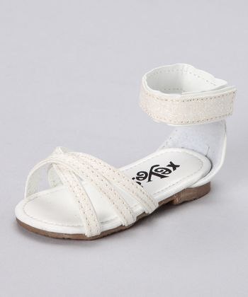 White Cross Sandal