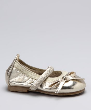 Gold Bow Soft Ballet Flat