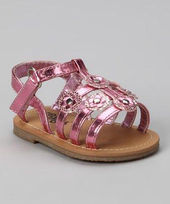 Xeyes Pink Sequin Flower Sandal