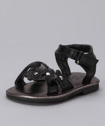 Xeyes Black Florette Sandal