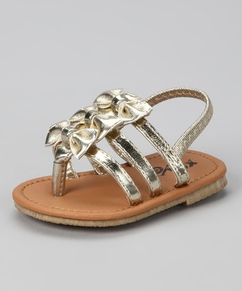 Gold Bow Sandal